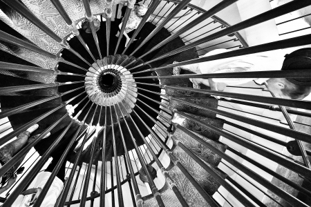 spiral staircases form a spiral photo