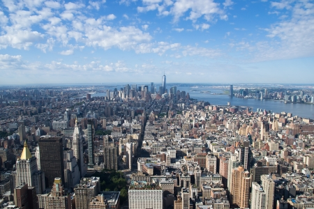 aereal: view of new york city from the top of the Empire State Building Stock Photo