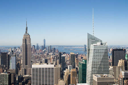 new york skyline from panoramic roof of rockfeller center photo