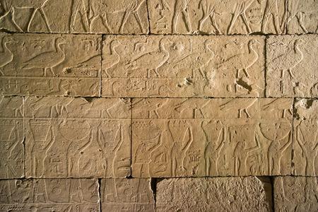set of ancient Egyptian hieroglyphs photo