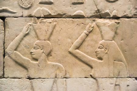 고대 이집트 상형 문자 세트 스톡 콘텐츠