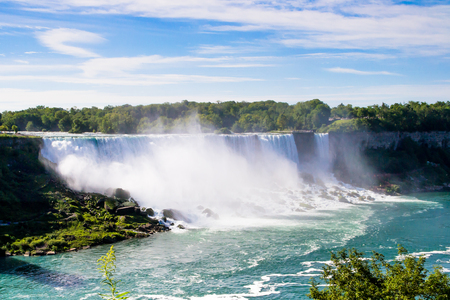 Niagara Falls, seen from the Canandian side in daylight