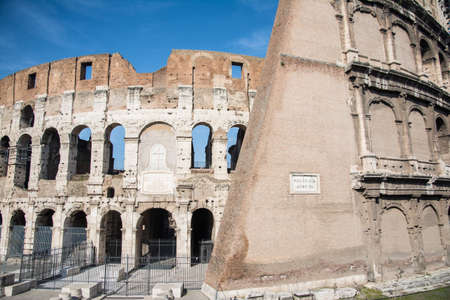 particularly: particularly of the Colosseum in Rome on a sunny day