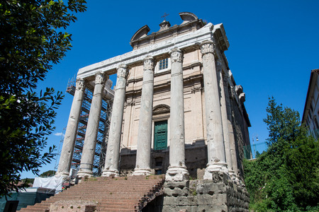 pius: The Temple of Antoninus Pius and Faustina Stock Photo