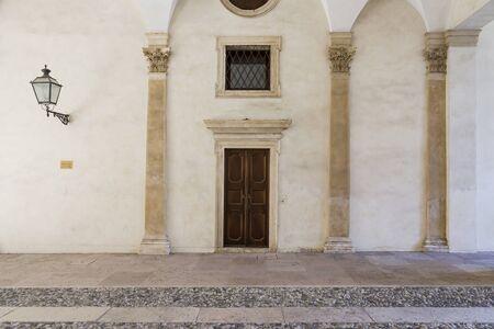 a door between two columns