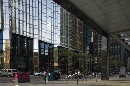 urban sprawl: Toronto, Canada-august 2, 2015: scenes of urban life in Toronto-Canada during a sunny day. Editorial