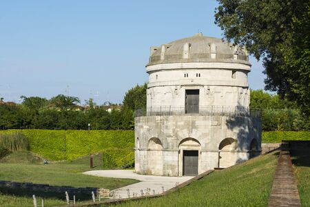 ravenna: Ravenna,Italy-august 21,2015:mausoleum of Theodoric in Ravenna-Italy,during a sunny day. Editorial