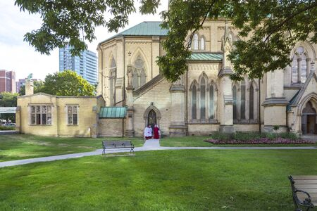 Toronto,Canada-august 2,2015:Cathedral of Saint James in the suburbs of Toronto during a sunny day.