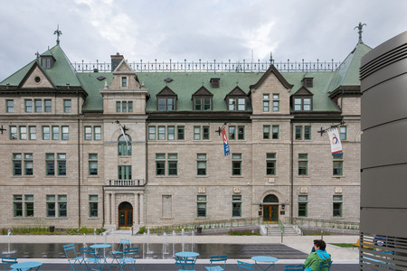 Quebec City, Canada - August 5, 2015:view of the city hall of Quebec City during a summer morning. Editorial