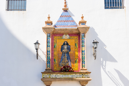 Cadiz,Spain-august 9, 2018:view of a sacred icon in Cadiz on a sunny day