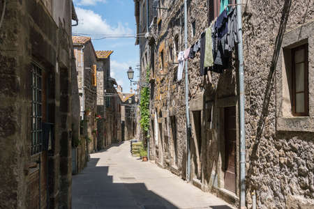 Vitorchiano, Italy-april 30,2018: view of Vitorchiano, one of the more beatiful town in Italy in the province of Viterbo.