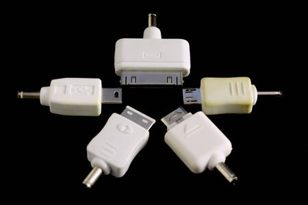 converter: Five types of converter plug connector adapter in star formation