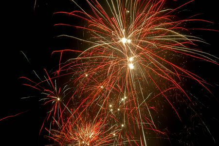 jazzy: Colorful fireworks in the night sky made the party became more festive
