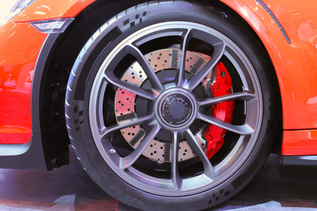 compensate: Large diameter disc on a brake system is a compulsory feature in many sports car to compensate its high maximum speed.
