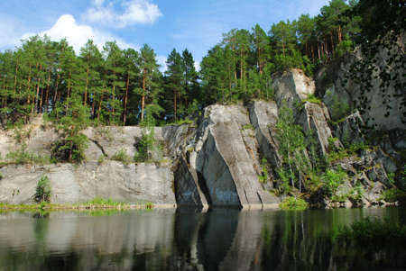 urals: lake talc stone, urals, russia Stock Photo