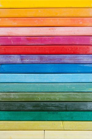 colorful line of oil pastels