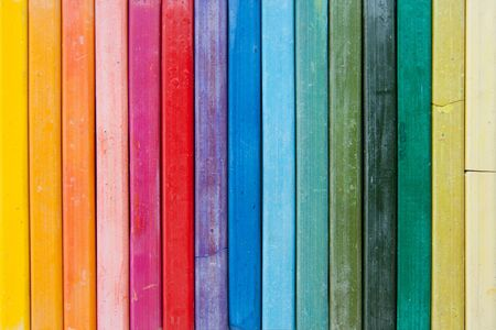 bright line of oil pastels