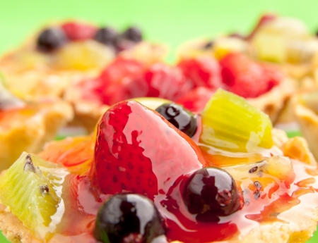 Close-up of fruits and berries covered with jelly Stock Photo - 19022863