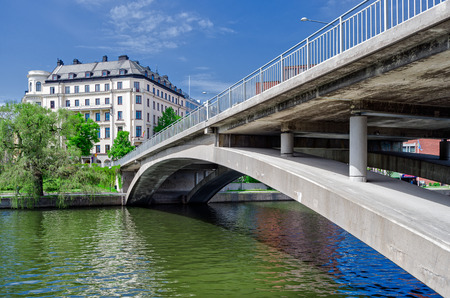 norrmalm: Kungsbron Swedish: Kings Bridge is a double bridge in central Stockholm, Sweden. It connects Norrmalm to Kungsholmen.