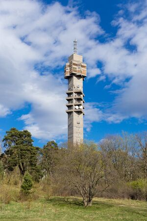 tv tower: Swedish TV tower, Kaknastornet Stock Photo