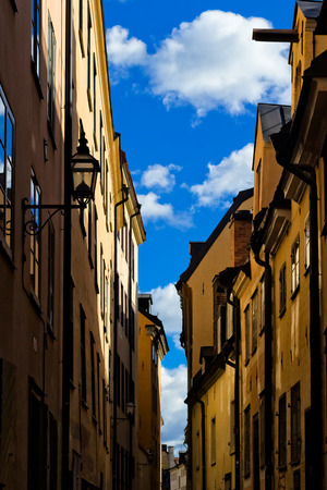 gamla stan: Old street of stockholm old town, gamla stan