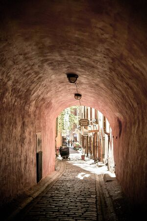 old town: Stockholm Old town Gamla Stan Stock Photo