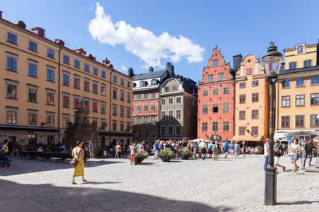 Stockholm, Sweden - Jul 18, 2016 : View of the Stortorget, Old Town, Stockholm Editorial