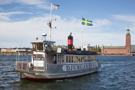 steamboat: Stockholm, Sweden - Sep 6, 2016 : View of Steamboat in Stockholm, which serves local traffic as well as tours to nearby archipelago.