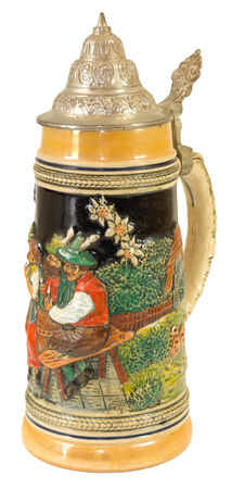 Decorative Bavarian Beer Stein II. Stock Photo