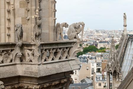 Demon, Dog and Heron Gargoyles of Notre Dame.