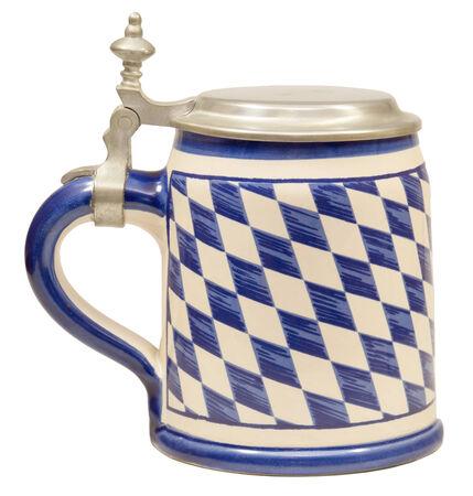 pewter mug: Isolated Bavarian Beer Stein I