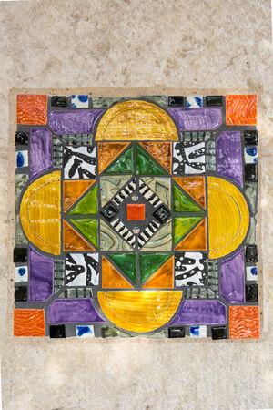 tile pattern: Colorful Spanish Tile IX Stock Photo