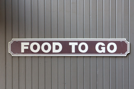 Food To Go Sign Stock Photo