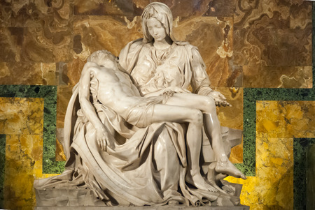 artistic jesus: ROME-SEP 29: Michelangelos Pieta in saint Peters Cathedral II