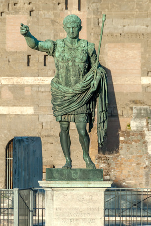 Statue of Augustus, the first Emperor of the Roman Empire, Rome, Italy. Stock Photo