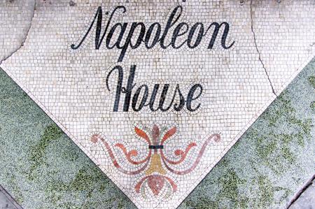 napoleon: Napoleon House threshold in New Orleans. Stock Photo
