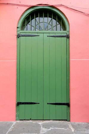 old and new: Old New Orleans Green Door