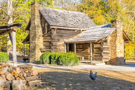 Historical Smoky Mountain Farm House and Firewood Hut