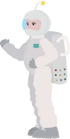 spacesuit: An astronaut character ready for space