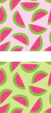 Twee versies van een naadloze watermeloen patroon. Stockfoto - 15385744