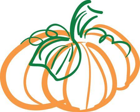 A simple illustration of a pumpkin.