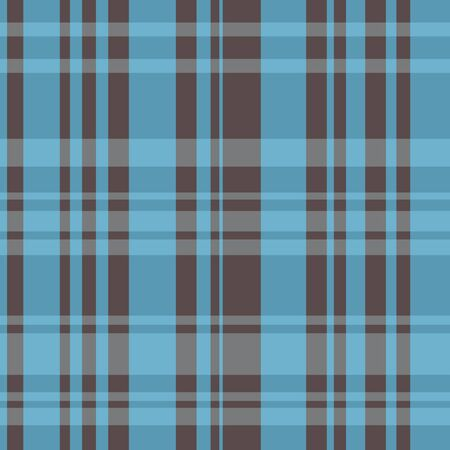 A seamless plaid pattern with brown and blue colors.