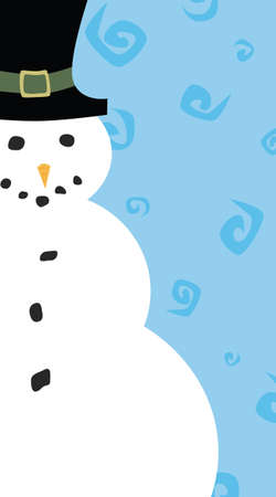 tophat: A snowman themed christmas card Illustration