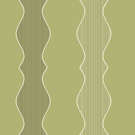 A seamless pattern of olive green colored lines inside a decorative border.