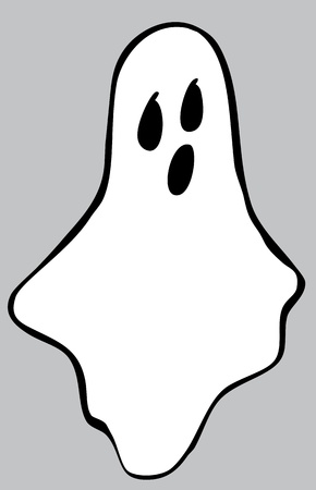 An illustration of a ghost for halloween. Illustration