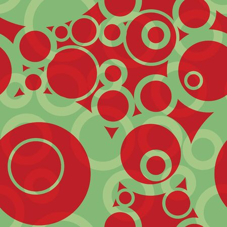 festive: A seamless pattern of circles in festive christmas colors.