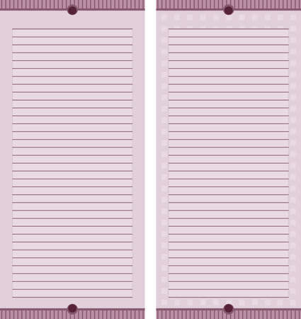 A set of two mauve colored stationary pages.
