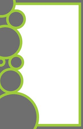 A green and grey design for an 11x17 sized stationary template.