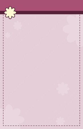 A flowery pink stationary template. Vector