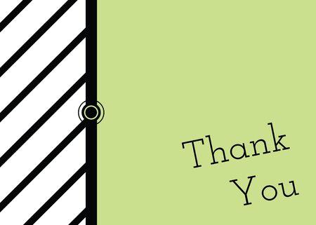 굵게, 녹색 검정, 흰색은 당신을 카드에 적는 감사합니다.
